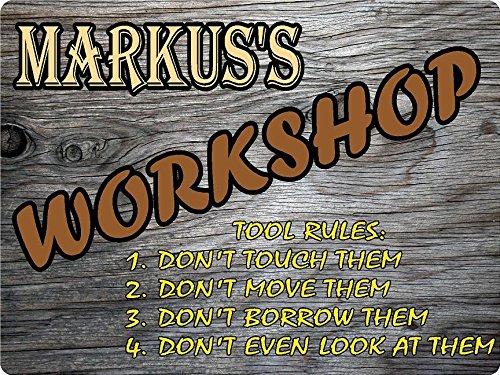 MARKUS Workshop tool rules wood effect design décor sign 9