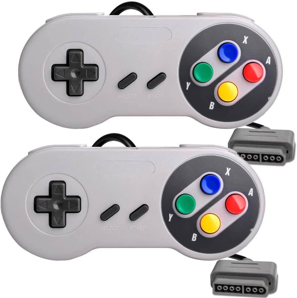 2 Packs Replacement Controller Gamepad for SNES, Game Controller Compatible with Original Super Nintendo Game Entertainment System: Home Audio & Theater