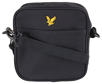 f1447d7dd8e3 Lyle   Scott Small Items Side Bag Black BA901A One Size  Amazon.co ...