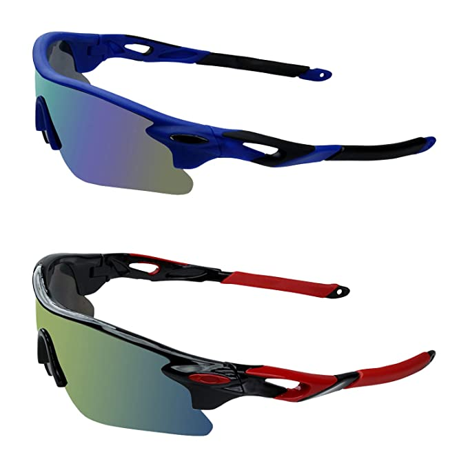 260f6e326470 Image Unavailable. Image not available for. Colour  Zyaden Unisex UV  Protected Plastic Sports Sunglasses(Multicolour ...