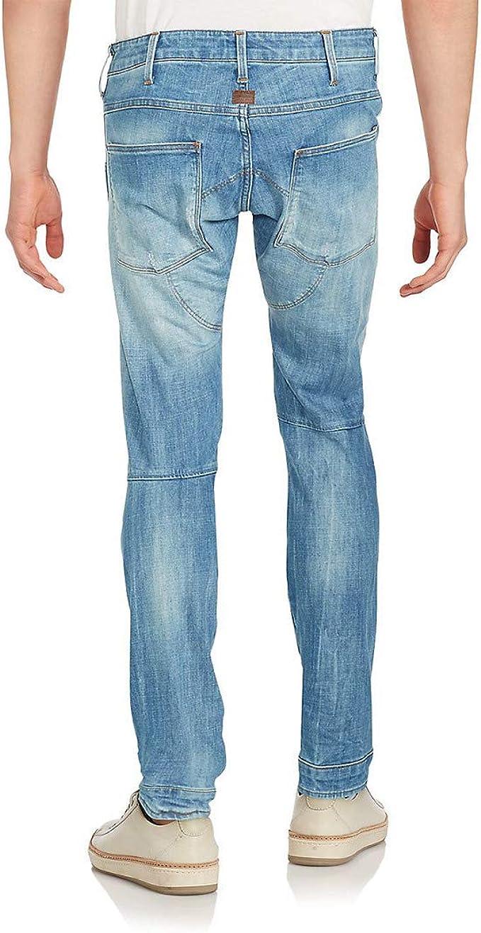 36 Waist RAW 5620 3D Slim Charcoal Black Denim Rugged Jeans 5 Pocket Front Button Fly Skinny Leg Jean Pant Motorcycle Moto Rocker Menswear