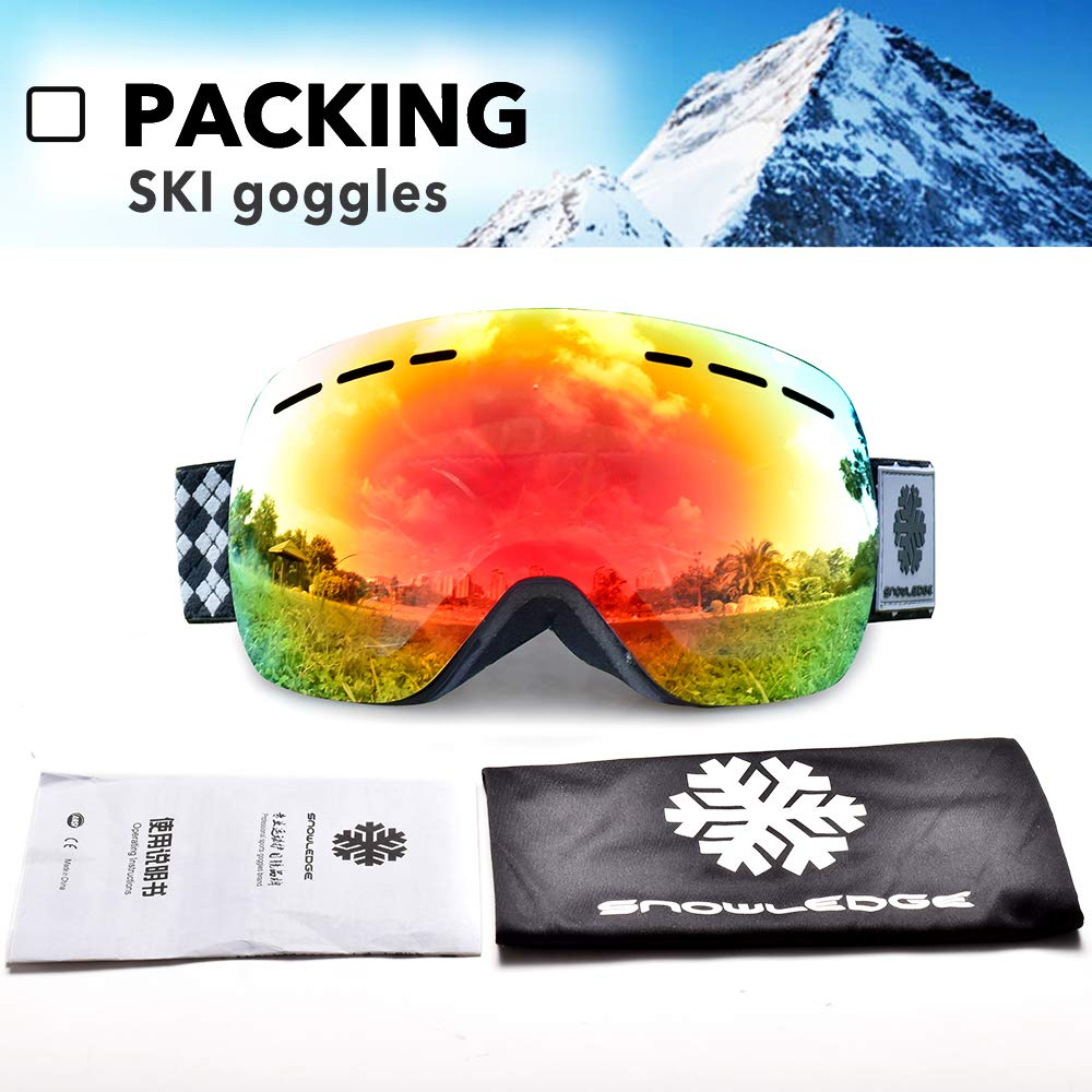 bce8a50fe07a Snowledge Ski Goggles Kids