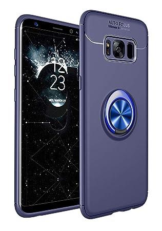 SORAKA Funda para Samsung Galaxy S8 Plus,rotación de 360 Grados,Carcasa de TPU Delgada, imán a Prueba de Golpes,Funda para Soporte de Coche para ...
