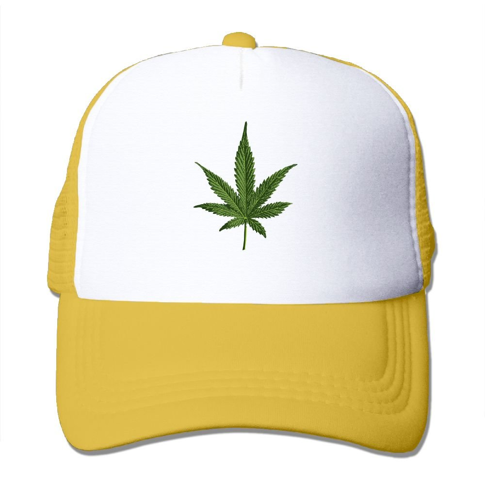 Marijuana Leaf Fitted Baseball Caps For College Students Unique Great For Travle Running Sunmmer Hat