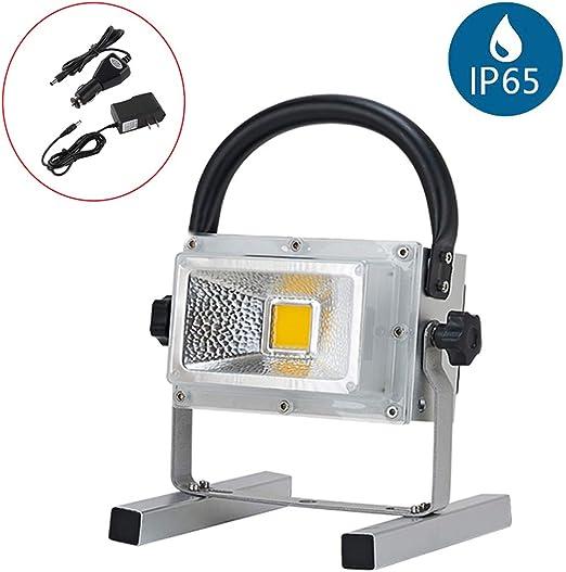 Foco de Obra Portátil, Foco LED Proyector Exterior Recargable, 900 ...
