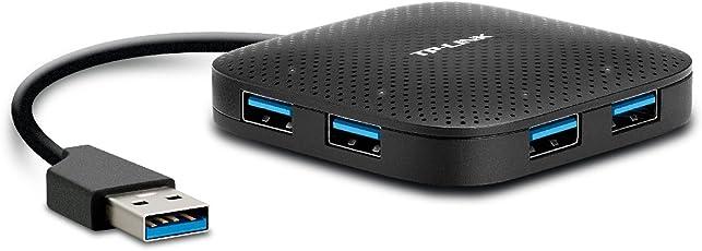 TP-LINK UH400 Hub USB, 5000 MB/s, Color Negro