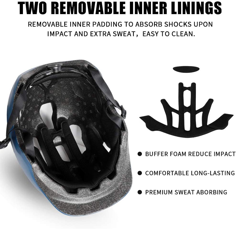 West Biking Commuter Helmet Breathable Lightweight Safety Helmet 22.8 in-24.4 in Suitable for Adult Male//Female Commuters Adult Helmet Adjustable Size