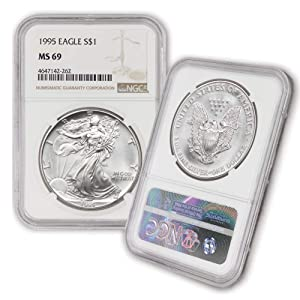 1995 American Silver Eagle $1 MS69 NGC