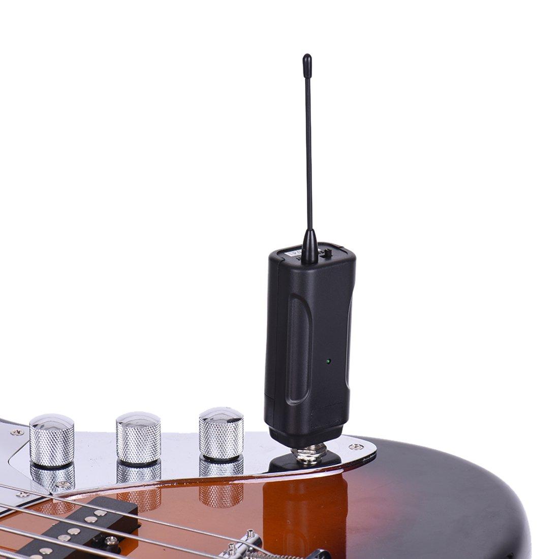 TOOGOO Receptor Transmisor de Audio inalambrico portatil Sistema para Instrumento electrico bajo Violin electrico Guitarra electrica: Amazon.es: Electrónica
