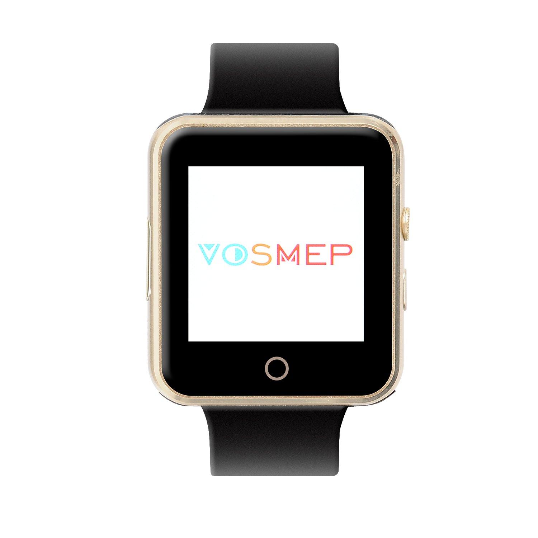 VOSMEP Reloj Inteligente Deportivos Smart Watch soporte Facebook Twitter 3.0 Teléfono Inteligente Pulsera 1.54 Pantalla Táctil Cámara para Android Samsung ...