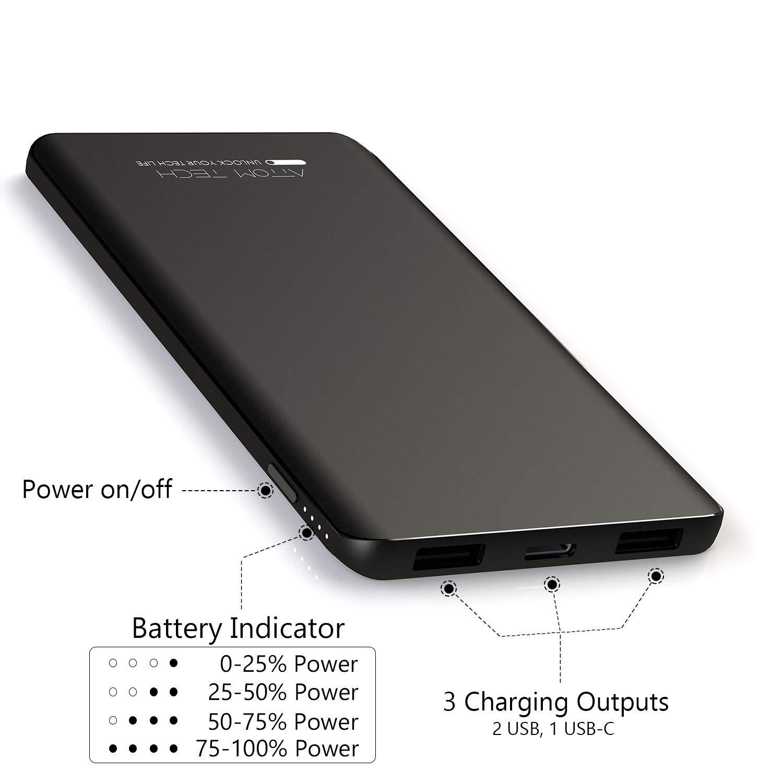Amazon.com: Triple USB Outputs Super Slim Power Bank Ultra ...
