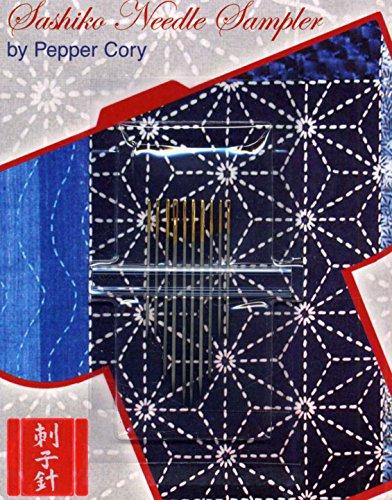 Blue Feather Sashiko Needle Sampler, Assorted Sizes, 10 Per Package ()
