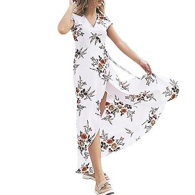 beautyjourney Vestiti Donna Lungo Taglie Forti Estivi Eleganti da Cerimonia  Vestito Lungo Donna Cerimonia Abiti Abito 73f8624f415