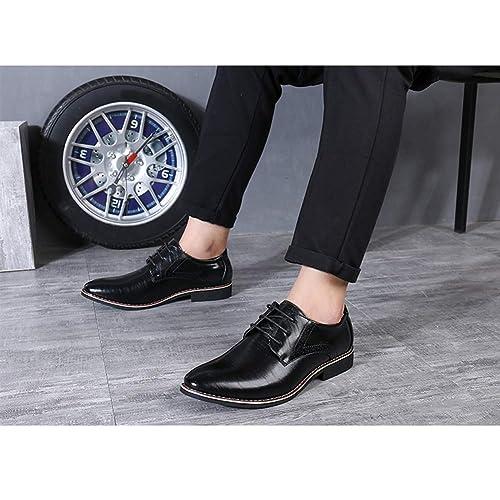 95f50457a2bd57 Ville Chaussure Cuir De Business À Homme Uirend Chaussures Lacets qTBzq