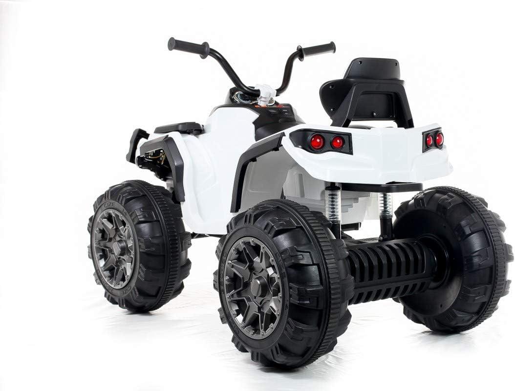 White LKAutoFactors 12V Twin Motor Quad