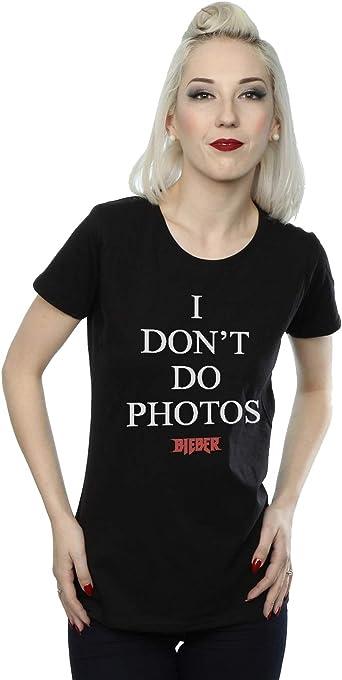 Justin Bieber mujer I Dont Do Photos Camiseta: Amazon.es ...