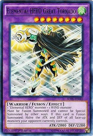 Yu-Gi-Oh! - Elemental HERO Great Tornado (SDHS-EN045) - Structure ...