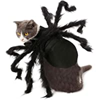Scary Halloween Costumes, Womdee Pet Dog Cat Halloween Spider Costumes Spider Cosplay Dressing up Party Apparel Clothing Accessories for Small Dogs Puppy Cat, Masquerade Party Decoration, Black