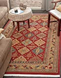 Beautiful Traditional Serapi Cllection Design, Red 5′ x 8′ FT Area Rug – Home Décor Foor Carpet Living Dinning Room and Bedroom Rugs, Warm Up Your Home Décor