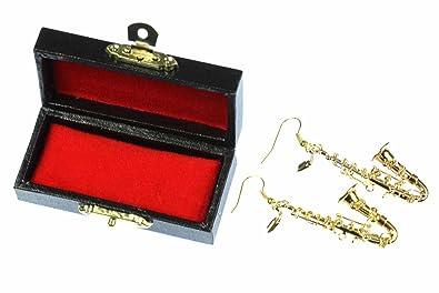 Saxofon Schlüsselanhänger Miniblings Box Musiker vergoldet Jazz Saxophon Sax