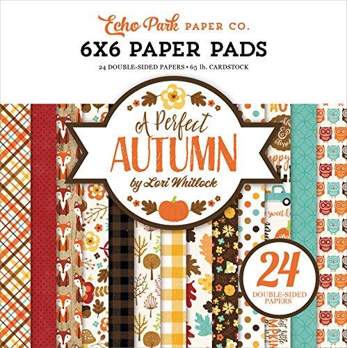 Echo Park Paper Company APA132023 a Perfect Autumn 6x6 Paper Pad, 6