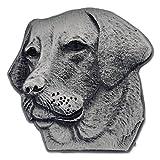 PinMart's Silver 3D Labrador Retriever Dog Breed Dog Lover Lapel Pin
