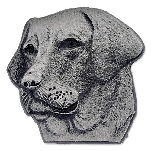 PinMart's Silver 3D Labrador Retriever Dog Breed Dog Lover Lapel Pin by PinMart
