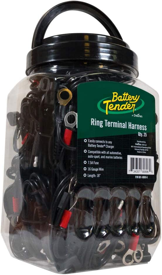 NEW Deltran Battery Tender Charger-Fused  Ring Terminal Quick Connect 081-0069-6