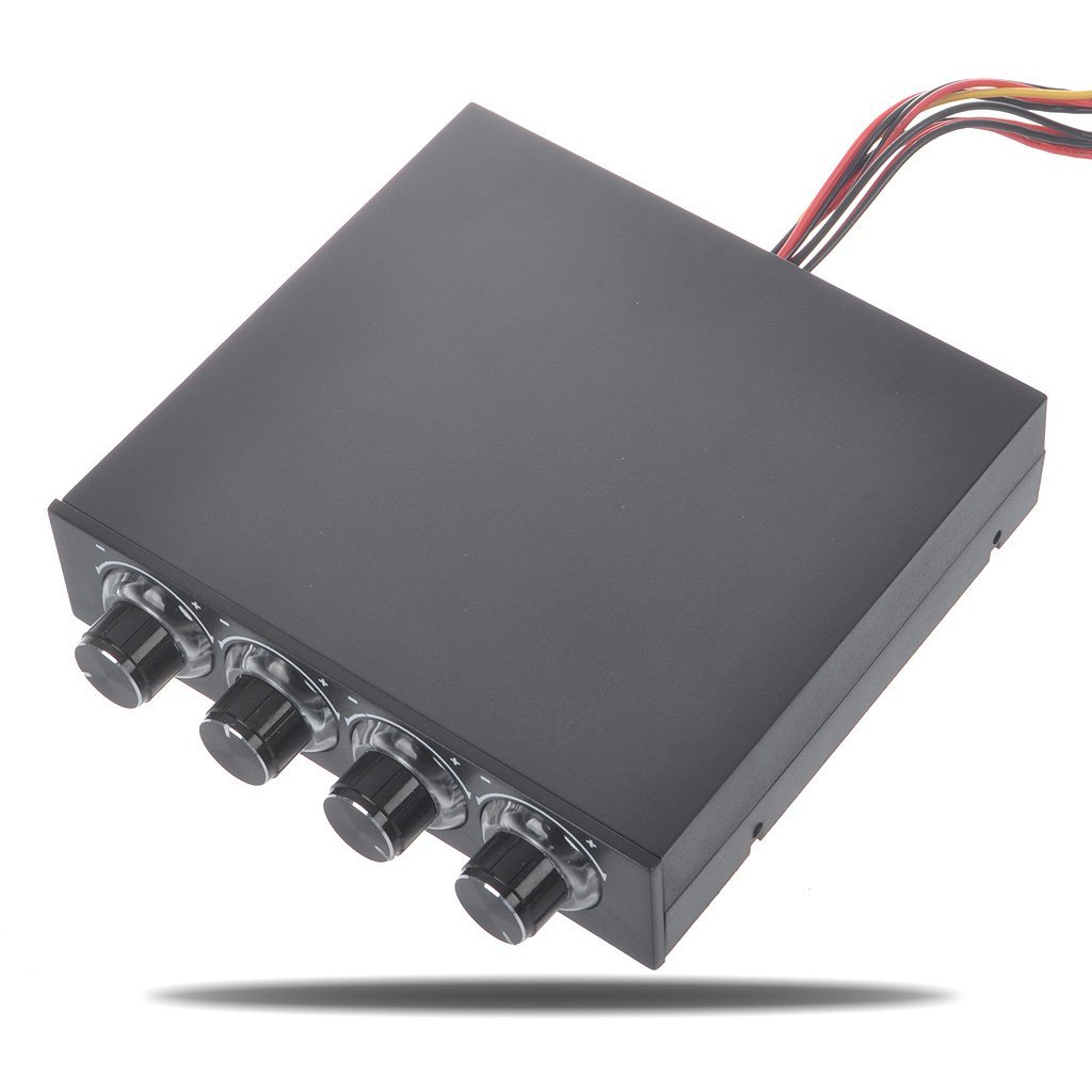 AVOLUTION Duable 4-Channel Cooling Fan Variable Speed Controller for PC