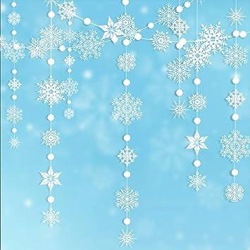 Amazon.com: Winter Wonderland - Kit de guirnalda de copos de ...
