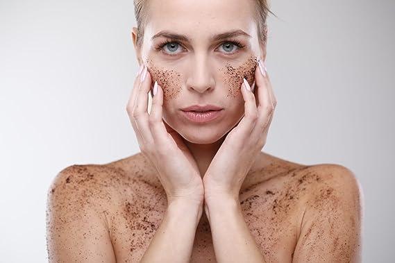 Dazzy Coffee Scrub - Body peelings con himmlischen sabor direcciones para cara y cuerpo: Amazon.es: Belleza