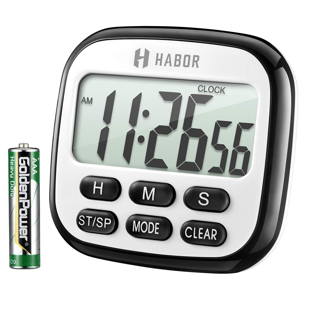 Habor Digital Kitchen Timer, Cooking Timer, Large Display