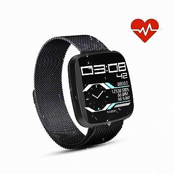 ... Reloj Inteligente Bluetooth SmartWatch con Cronómetro, Monitor de sueño,Podómetro,Deporte Reloj de Actividad Inteligente para Mujer Hombre: Amazon.es: ...