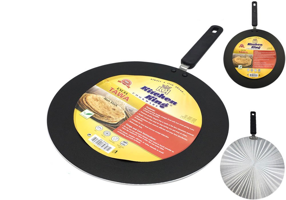 Kitchen King Non-Stick Excel Indian Roti Tawa//Tava Chapati Pan 30cm
