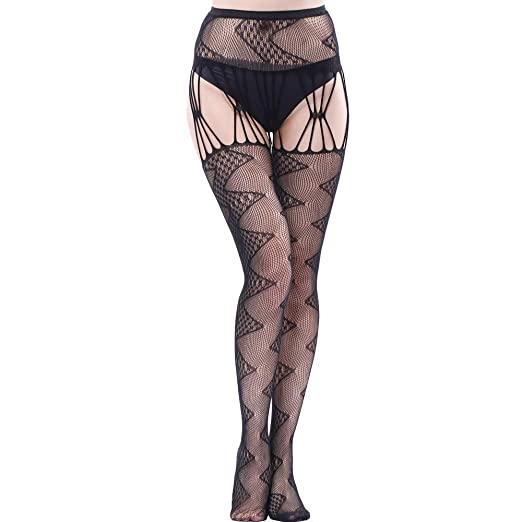 f61c22d60d8 Women Stockings Sexy Fishnet Open Soft Tights Lingerie Transparent Erotic  Lace Bodysuit Bodystocking (Free Size