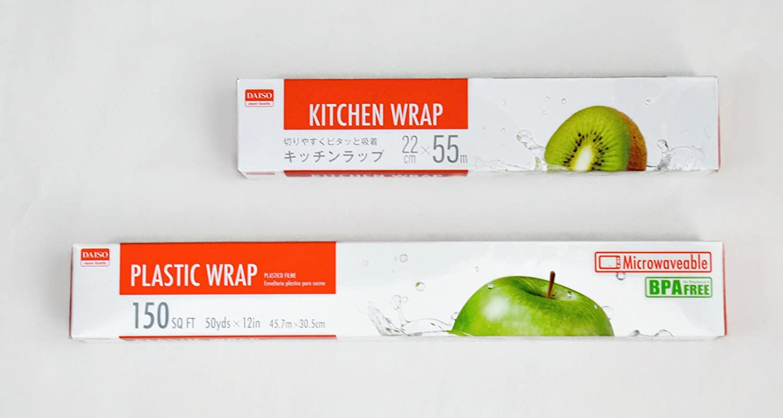 Amazon.com: 2 Size Kitchen Plastic Wrap Rolls - 12 inch & 8.7 inch ...