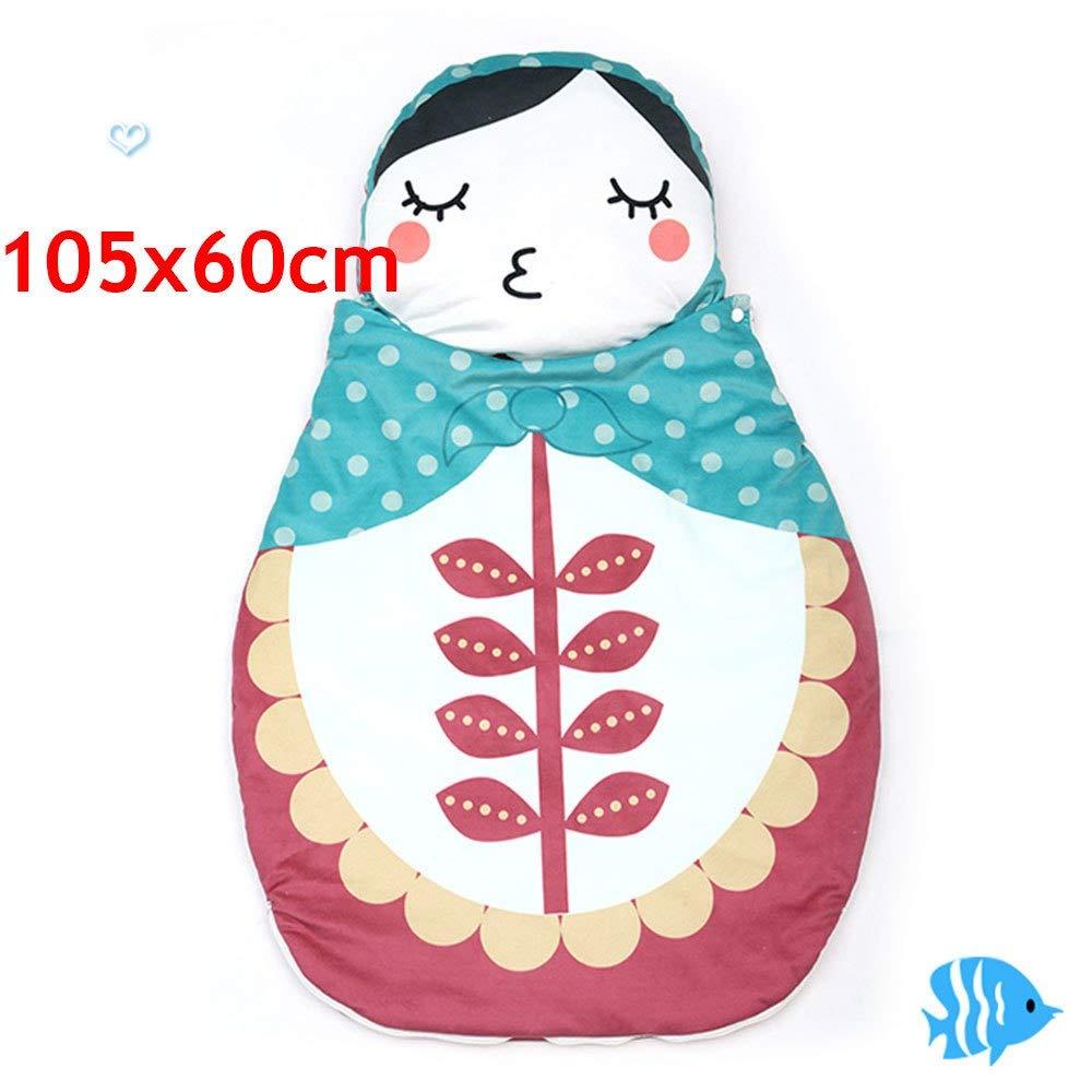 キック防止コットン寝袋 子供 幼児 冬 カートゥーン 寝袋 新生児 ベッド ラップ Matryoshka 人形 ベビー 寝袋  C 105x60cm B07PGG9VD4