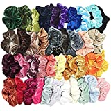 Fankle 40 Pcs Hair Scrunchies Velvet Elastic Hair Bands Hair Ties Ropes Scrunchie for Women or Girls Hair Accessories…