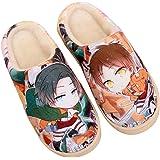 Cosstars Japanese Anime Suave Antideslizante Zapatillas de casa Lindos Felpa cálidos Zapatos de Interior