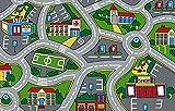 Kids Children Street Map Grey 3 X 5 Educational Gel Rug