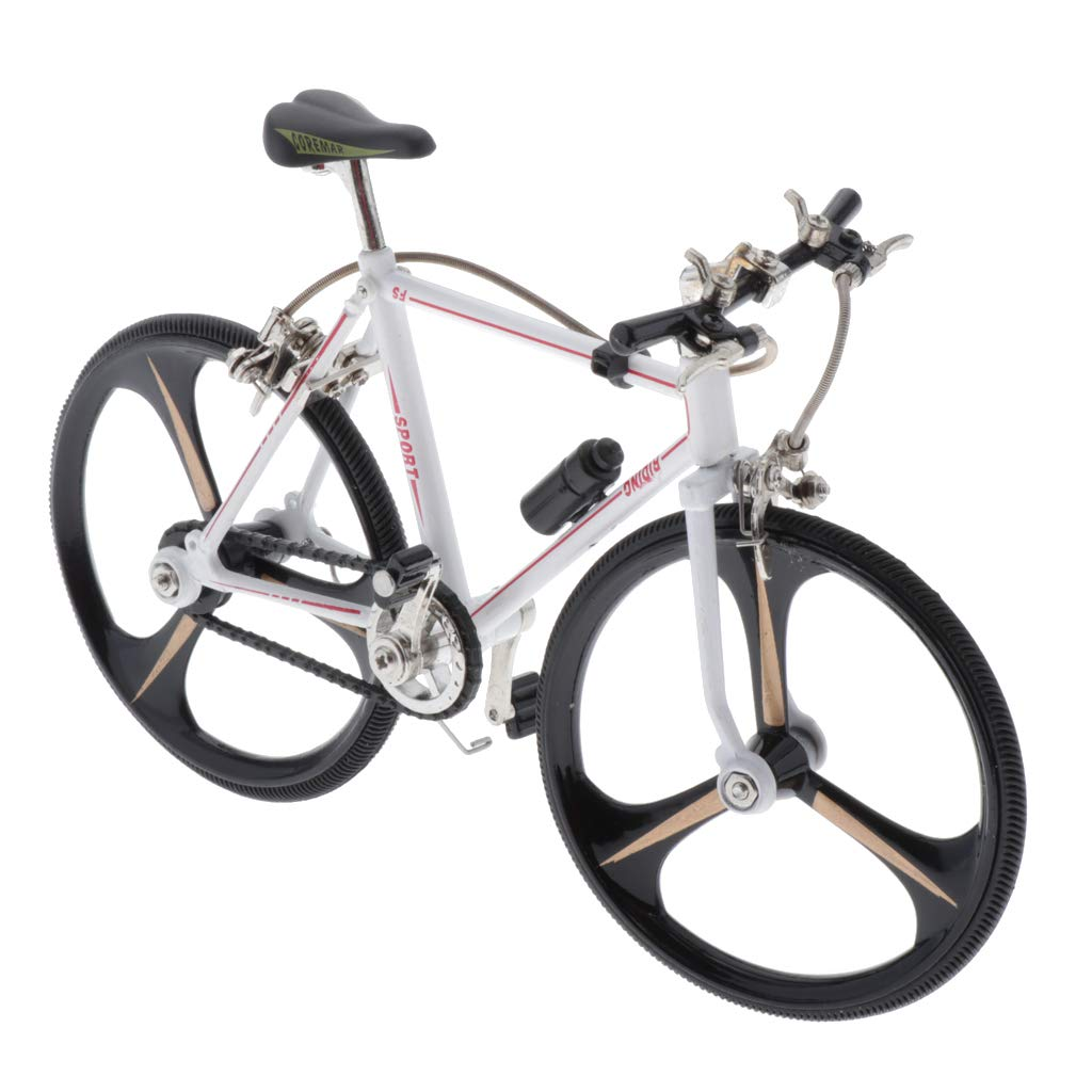 CUTICATE 1/10 Scale Finger Bike for Collections, Mini Model Ornaments, Bicycle Model Bike Gadgets (White) - Style1 by CUTICATE