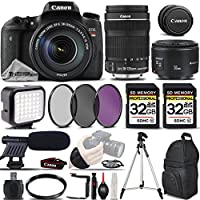 Canon EOS Rebel T6s DSLR Camera + Canon EF-S 18-135mm f/3.5-5.6 IS STM Lens + Canon EF 50mm f 1.8 II Lens + Professional Shotgun Microphone - All Original Accessories Included - International Version