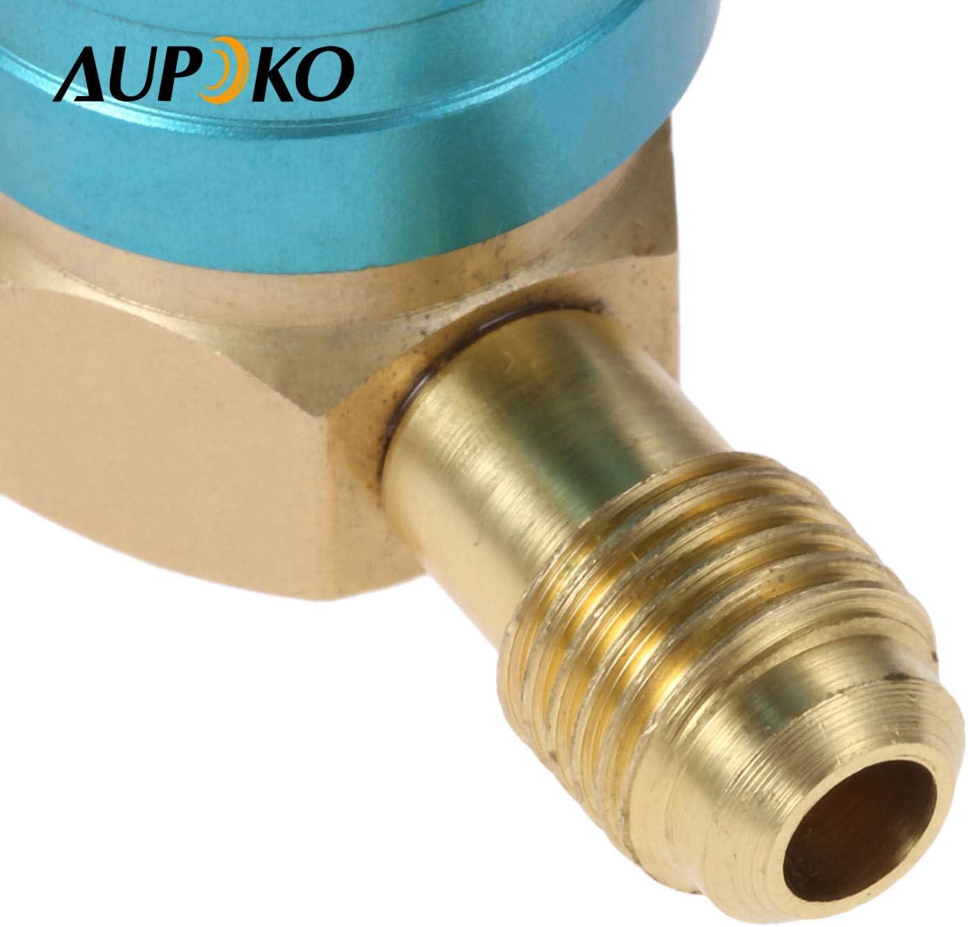KIMISS R1234YF a R134A Acoplador de adaptador r/ápido de lado bajo Montaje de aire acondicionado para autom/óvil