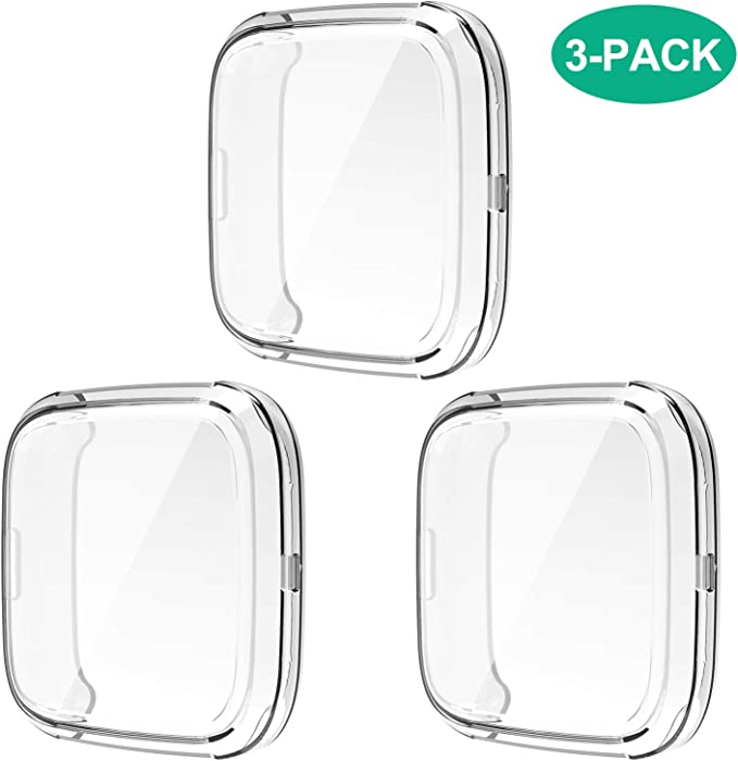 Amazon.com: Compatible con Fitbit Versa 2 Funda, 3 Pack Full ...