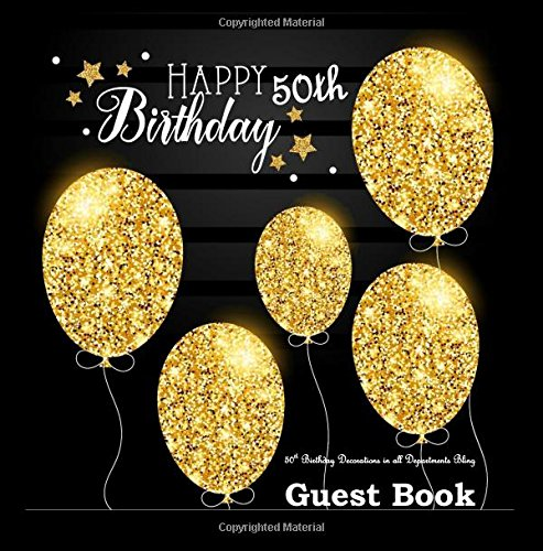 50th Birthday Decorations in All Departments: Bling GUEST BOOK Classy Silver Inside Foil Fleur de Lis End Pages 50th Birthday Decorations in Party ... (50th Birthday Guest Books) (Volume 1)