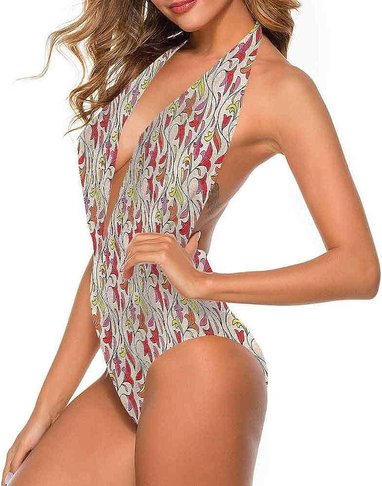Adorise Joli maillot de bain floral, arrosage de fleurs pour une excursion à la plage ou la piscine Multicolore 07