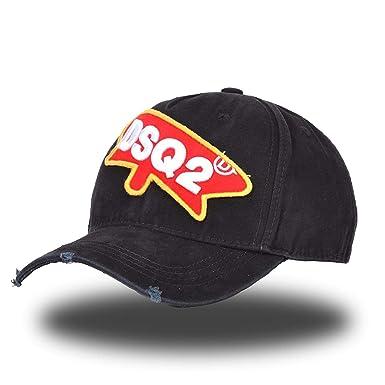 f5cd58f754983 Baseball Caps Men Women DSQ ICON Summer Black Snapback Hat Hip Hop ...