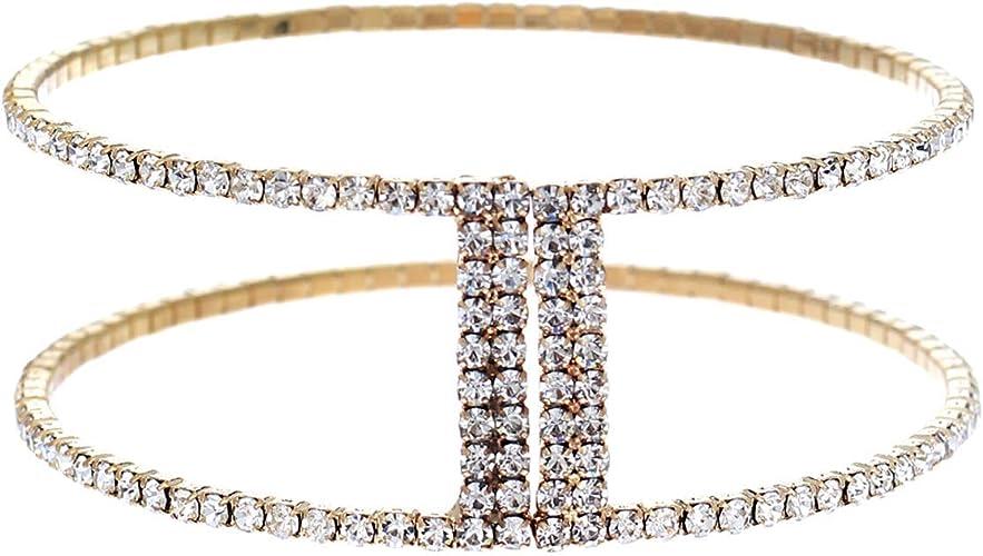 "Stone Beads Fashion White Gold Plated Beaded Jewelry Bracelet Bangle 7/"" Gift SD"