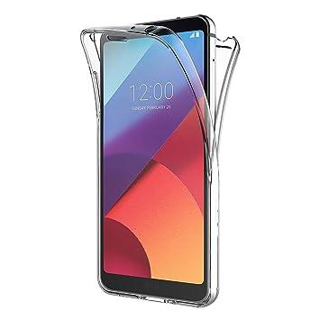 AICEK Funda LG G6, Transparente Silicona 360°Full Body Fundas para LG G6 Carcasa Silicona Funda Case (5,7 Pulgadas)