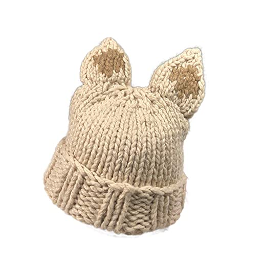 765779b241e64 Image Unavailable. Image not available for. Color  Clearance Sale 🌲 Women  Autumn Winter Cashmere Hat Cute Deer Cat Rabbit Ear Knitting Wool Warm